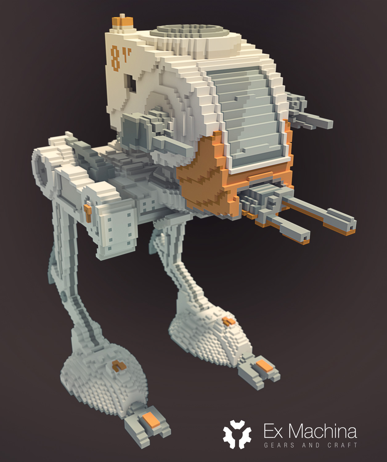 starwars at-st voxel